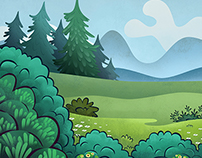 Animation Backgrounds / Pig Apple