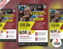 Charity Fundraisers Flyer PSD Template