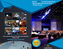 International Event Bi-fold brochure