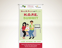 HOPE Summit Banner Design