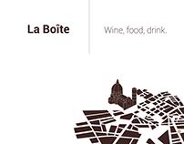 La Boîte | wine, drink, food.