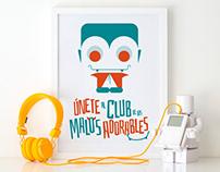 Malos adorables: ilustración digital
