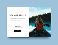 UI Challenge 09 - Wanderlust