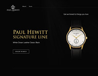 Landing page design for Paul Hewitt watches