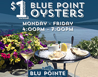 $1 Blue Point Oysters Instagram Post