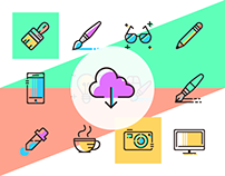 Free design agencies line icons