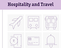 Hospitality and Travel Line Icon