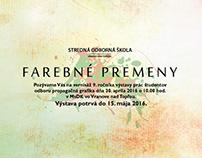 Farebné premeny – art exhibition promo