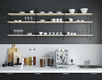 download 3d: kitchenset coffee theme