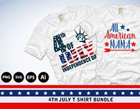 4th July Editable 40+ T-shirt Designs Bundle