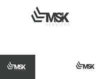 MSK SERVICES logo design