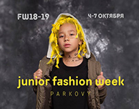 Junior Fashion Week poster (make-up & hair by me)