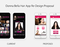 Donna Bella Hair Proposed App Re-Design