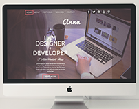Designer/developer portfolio website design