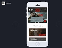 CinéMons - Prototyping Site mobile