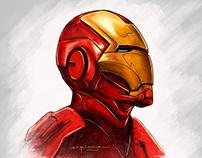 I am Iron Man - Speed Drawing - Procreate