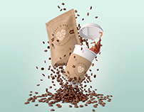 PixelSquid Demo Series: Zero-G Coffee - Café Branding