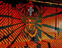 TAPE ART Interior Design for Jägermeister | by Ostap