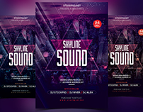 Skyline Sound - Download Free PSD Flyer Templates