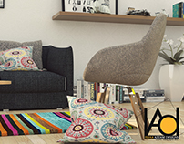 Colorful Living-Room | Visualization