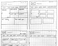 Home Page Wireframe Sketches for Eleni's