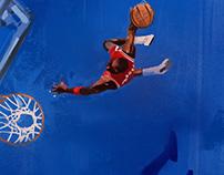 Michael Jordan (Blue Study)