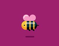 Flat Design Flying Bee