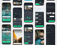 Vesta Dark - Travel Booking App UI Kit