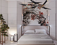 Bedroom with Japanese motifs. (2018)