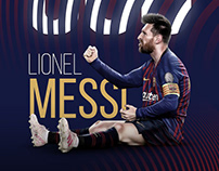 Messi 600 Phone Wallpaper Design