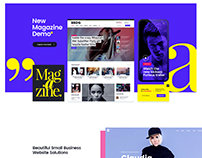 New Landing Page for Bridge WordPress Theme