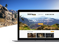 Ghost Recon Wildlands Pre-launch Marketing Website