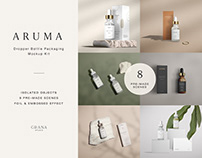 ARUMA Dropper Bottle Packaging Mockup Kit