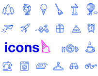 A collection of icons