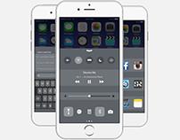 iOS Control Centre Redesign