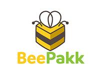 BeePakk logo design