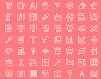 FREE Graphic Design Line Icons