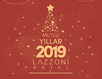 Yeni Yıl 2019 Christmas New Year Design Lazzoni Hotel