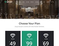 Pricing Page - Sport WordPress Theme