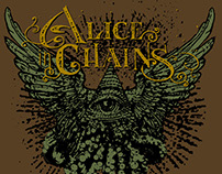 Alice in Chains - All Seeing Eye T-Shirt