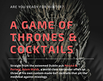 Flaskaholic - a Game of Thrones & Cocktails