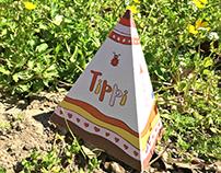 Birth announcement card - Tippi
