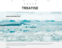 Treatise Minimal Blog Website Concept