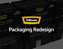 Fellowes Shredder Black Packaging Redesign