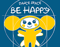 "LOGO FOR A DANCING STUDIO ""BE HAPPY DANCE SPACE"""