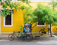 Shades of Yellow | Walls of Pondicherry | Minimalism