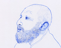 Bic biro portraits
