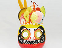 fruit parfait daruma/フルーツパフェだるま