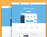 Chomok - Material Landing Page