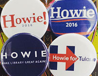 Howie-T campaign buttons